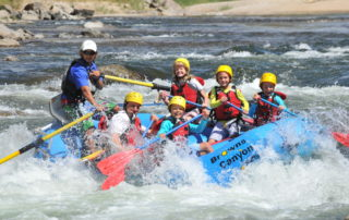 Colorado whitewater rafting image kids in browns canyon