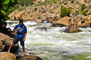 Zack at the Arkansas River with Browns Canyon Rafting