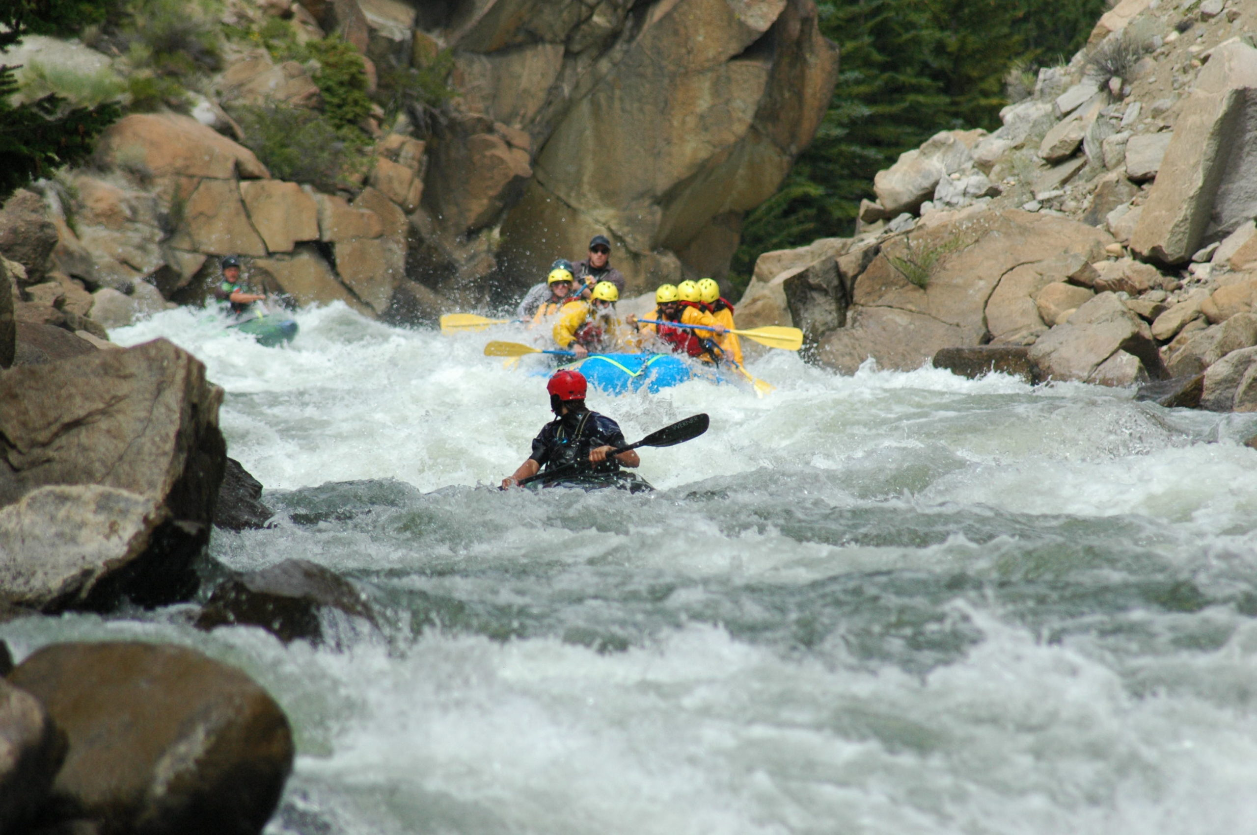 Arkansas River Colorado expert white water rafting