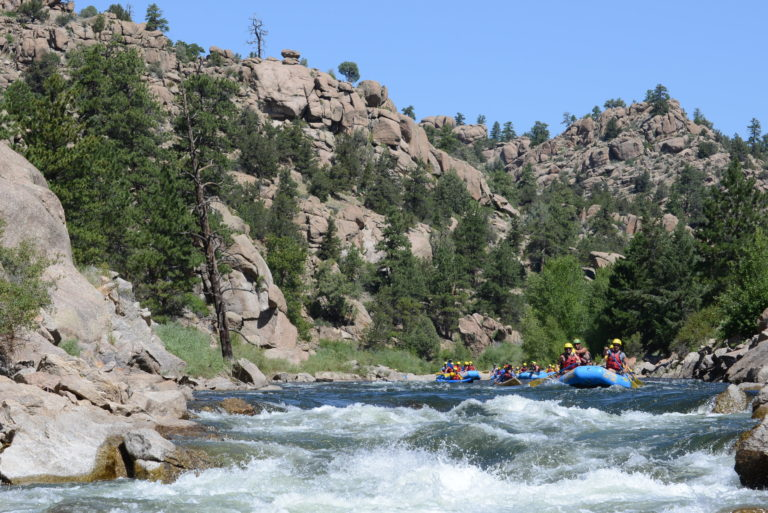 Family rafting browns canyon white water arkansas river colorado