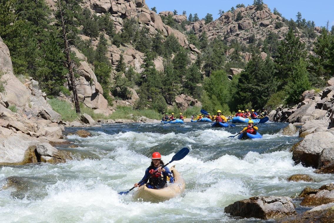 browns canyon kayaking colorado