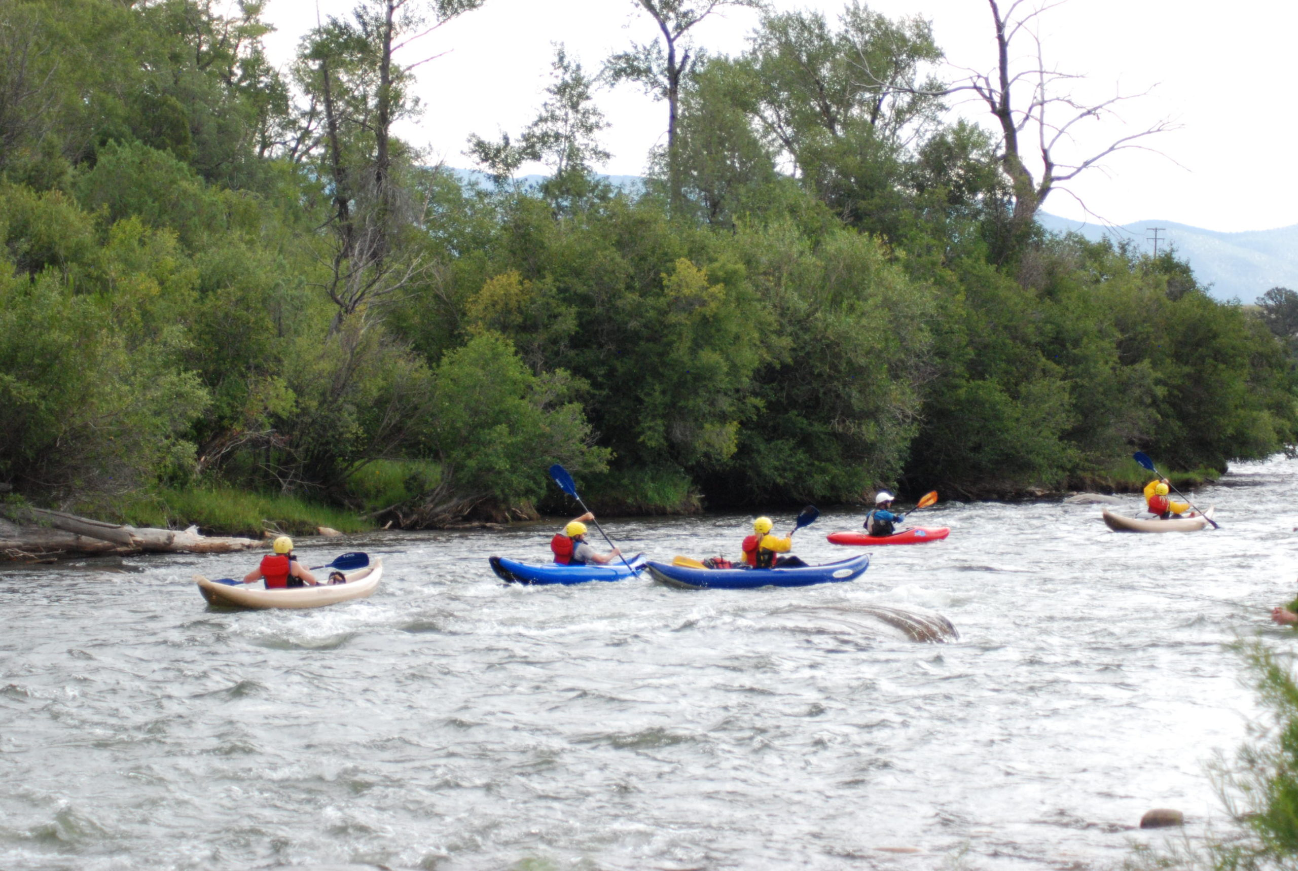 easy inflatable kayaking arkansas river colorado