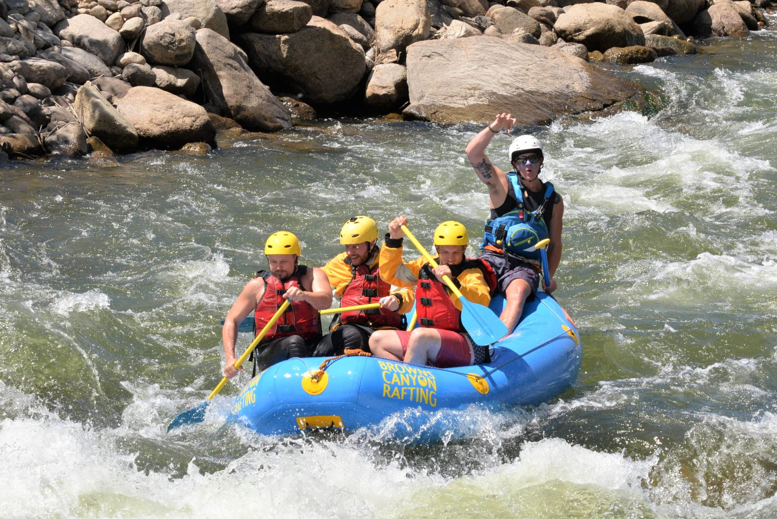 whitewater rafting colorado mini raft