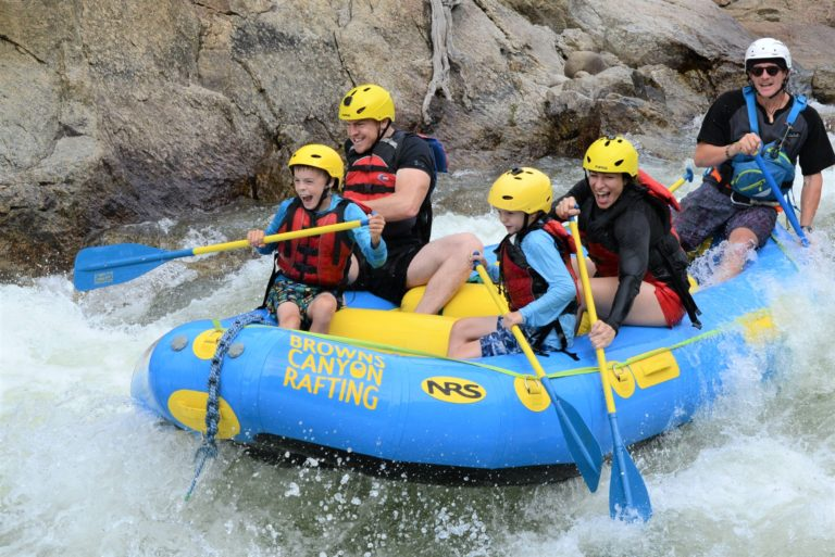 Family white water rafting browns canyon colorado