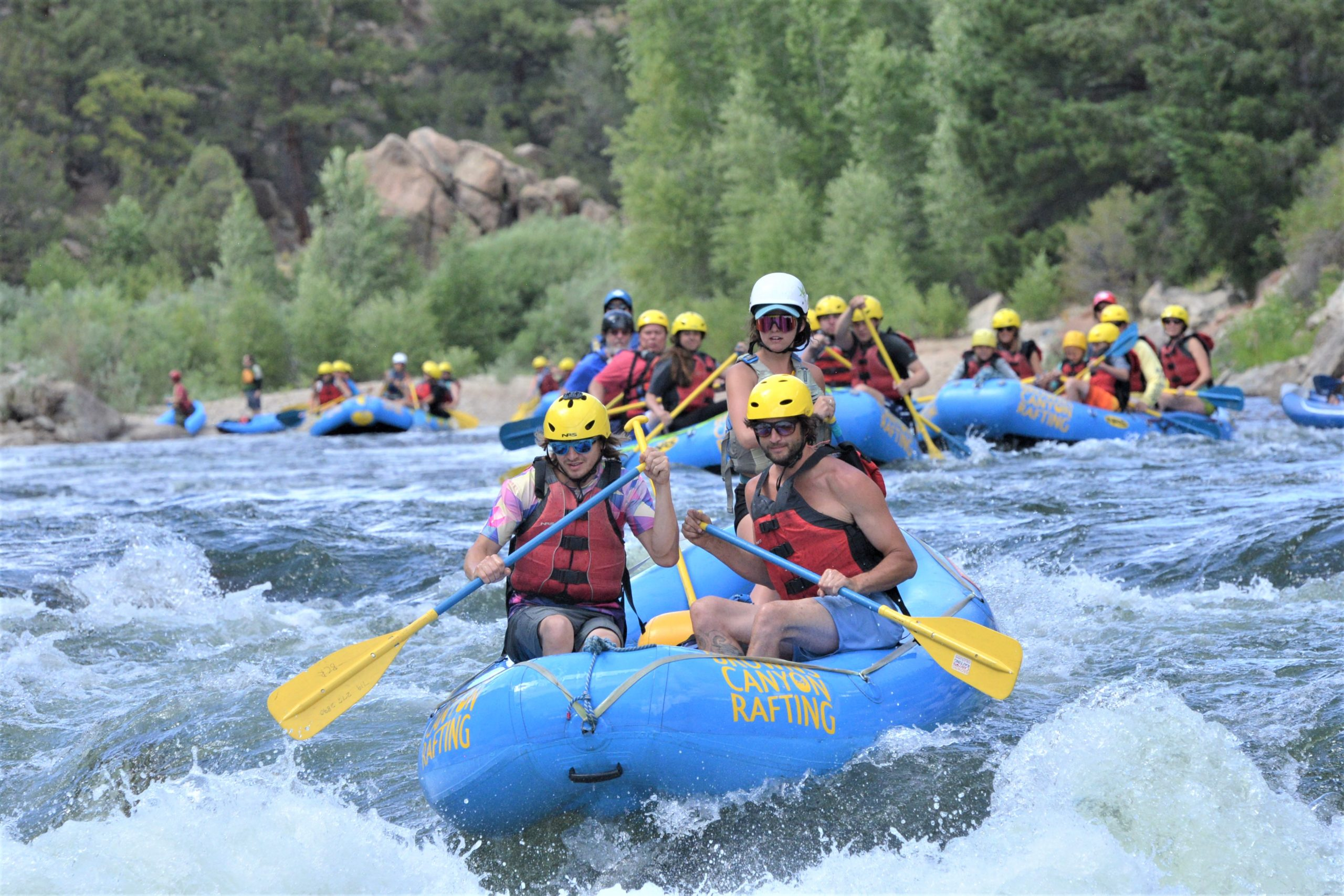 Colorado white water rafting mini raft